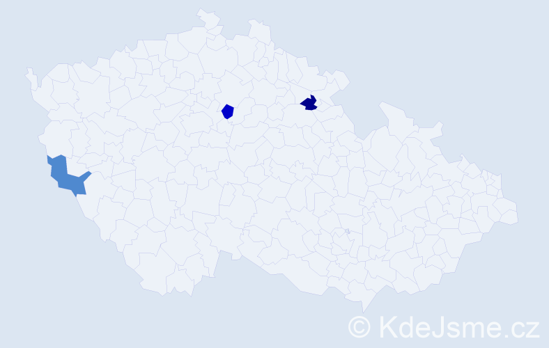 Jméno: 'Šimon Ladislav', počet výskytů 3 v celé ČR
