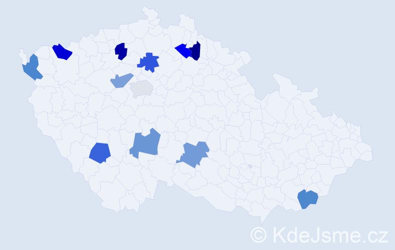 Jméno: 'Kryštof Jiří', počet výskytů 12 v celé ČR