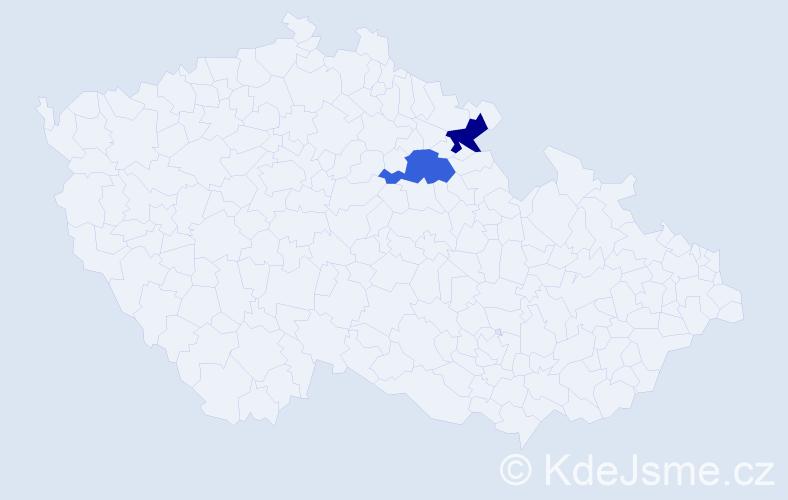 Jméno: 'Václav Vavřinec', počet výskytů 2 v celé ČR
