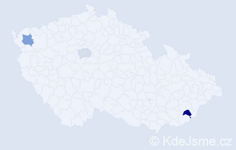 Jméno: 'Karolína-Anna', počet výskytů 4 v celé ČR