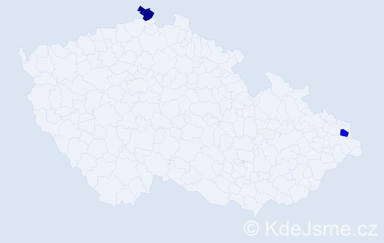 Jméno: 'Vrastislav', počet výskytů 3 v celé ČR