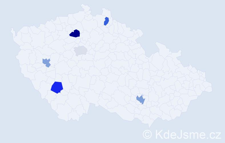 Jméno: 'Quynh Nga', počet výskytů 7 v celé ČR