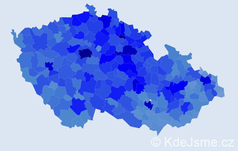 Jméno: 'Věra', počet výskytů 109710 v celé ČR