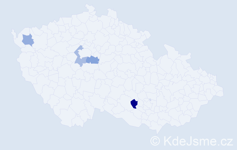 Jméno: 'Šimon Karel', počet výskytů 4 v celé ČR