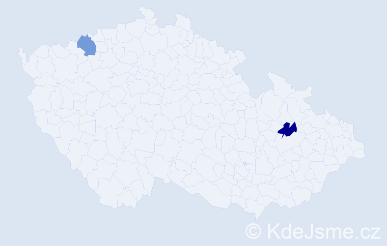 Jméno: 'Šahrzád', počet výskytů 2 v celé ČR