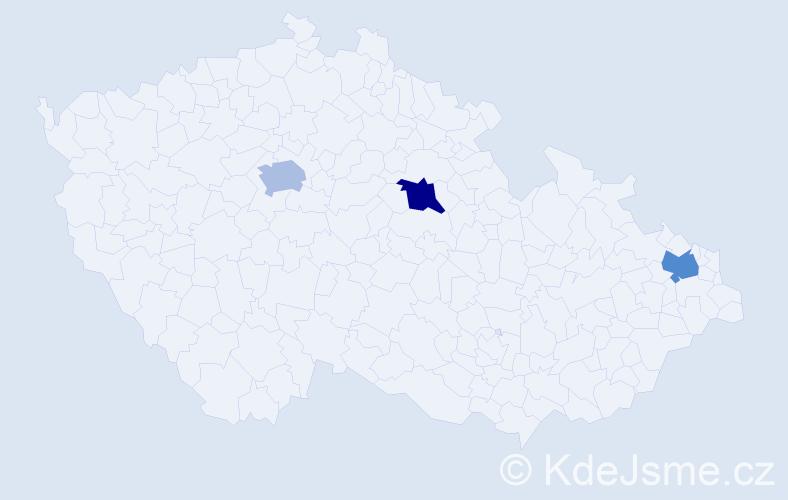 Jméno: 'Vít Jiří', počet výskytů 3 v celé ČR