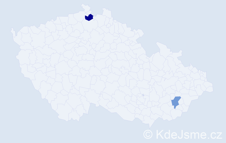 Jméno: 'Štěpán Bohumil', počet výskytů 2 v celé ČR