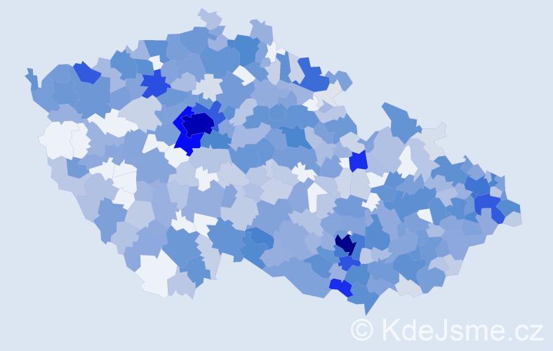 Jméno: 'Mia', počet výskytů 1377 v celé ČR