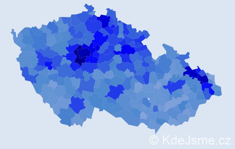 Jméno: 'Matěj', počet výskytů 32304 v celé ČR