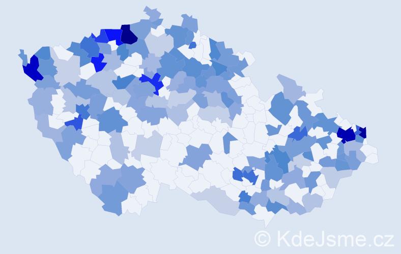 Jméno: 'Melissa', počet výskytů 338 v celé ČR