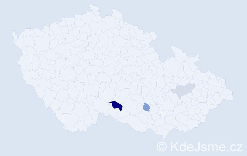 Jméno: 'Gracián', počet výskytů 4 v celé ČR