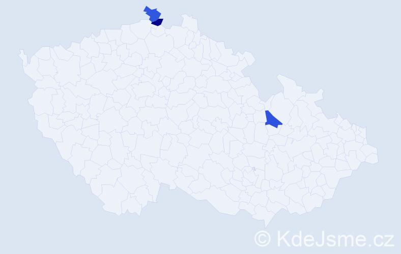 Jméno: 'Quoc Dat', počet výskytů 3 v celé ČR