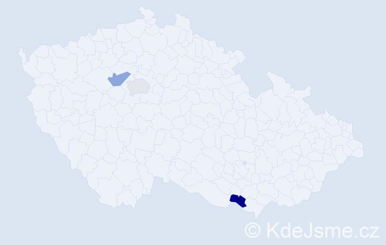 Jméno: 'George Alexander', počet výskytů 3 v celé ČR