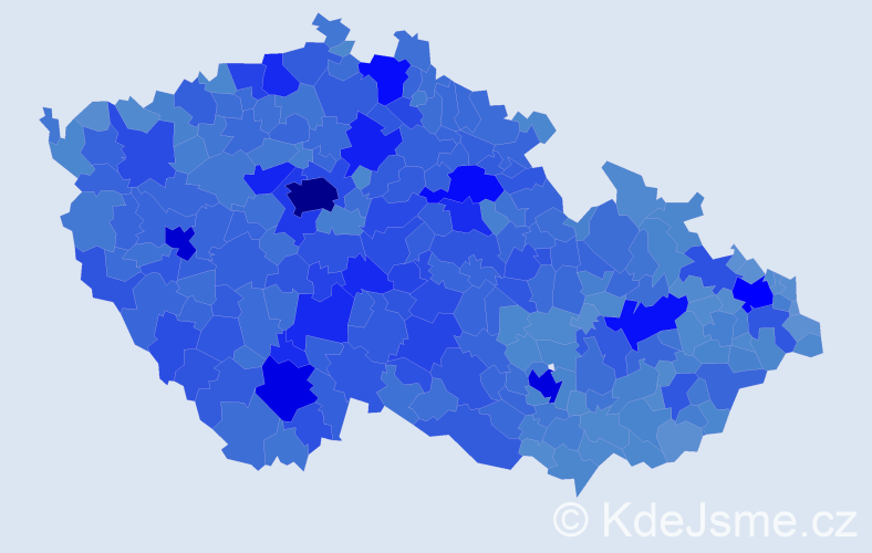 Jméno: 'Jana', počet výskytů 274010 v celé ČR
