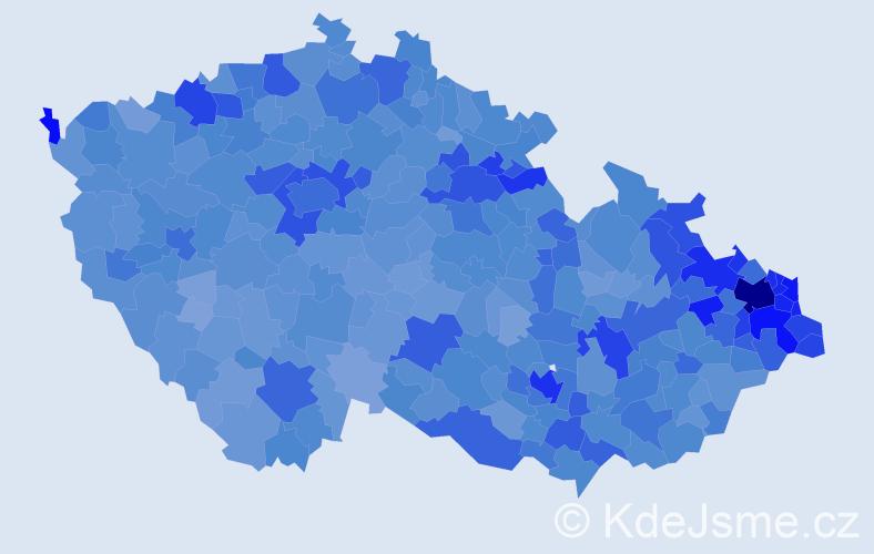 Jméno: 'Dominik', počet výskytů 30736 v celé ČR