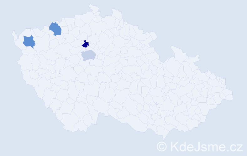 Jméno: 'Quoc Hoang', počet výskytů 5 v celé ČR