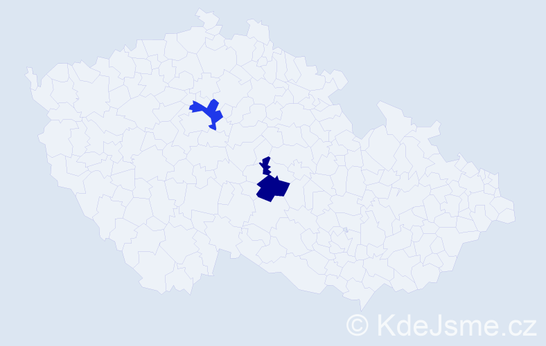 Jméno: 'Šárka Anežka', počet výskytů 2 v celé ČR