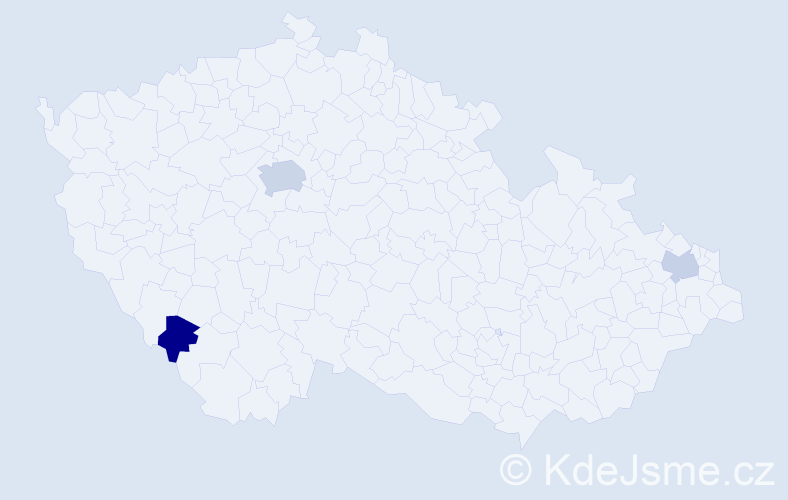 Jméno: 'Šimon Michael', počet výskytů 5 v celé ČR