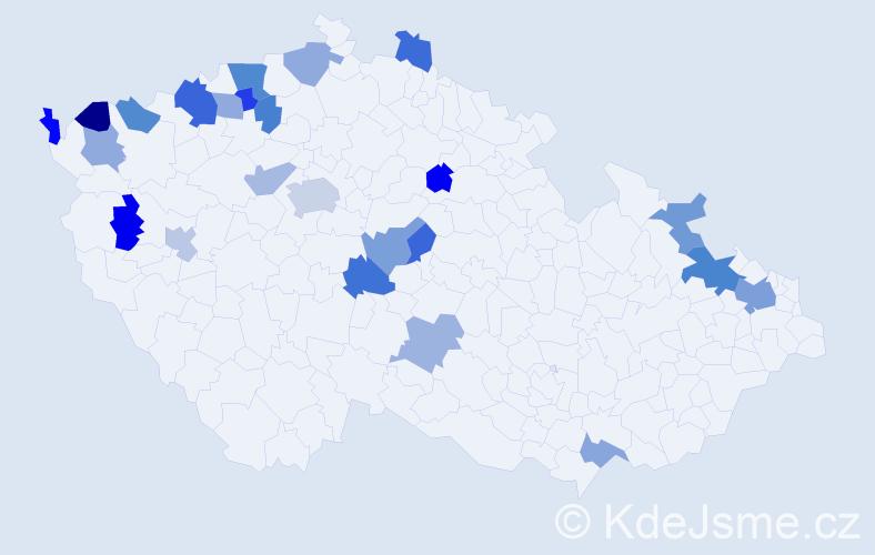 Jméno: 'Desider', počet výskytů 36 v celé ČR