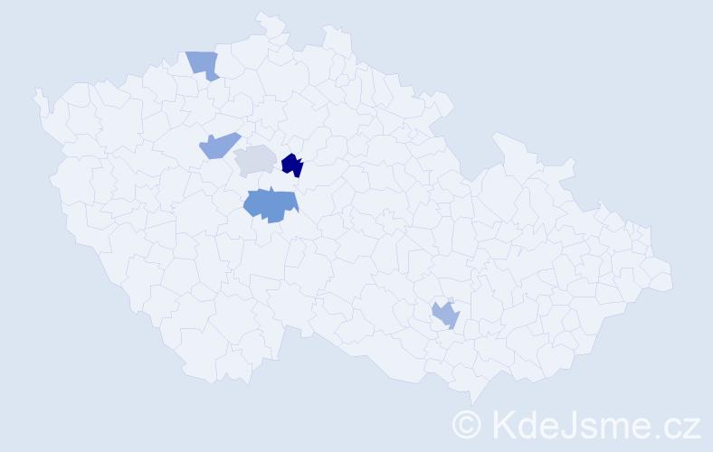 Jméno: 'Šimon Jakub', počet výskytů 8 v celé ČR