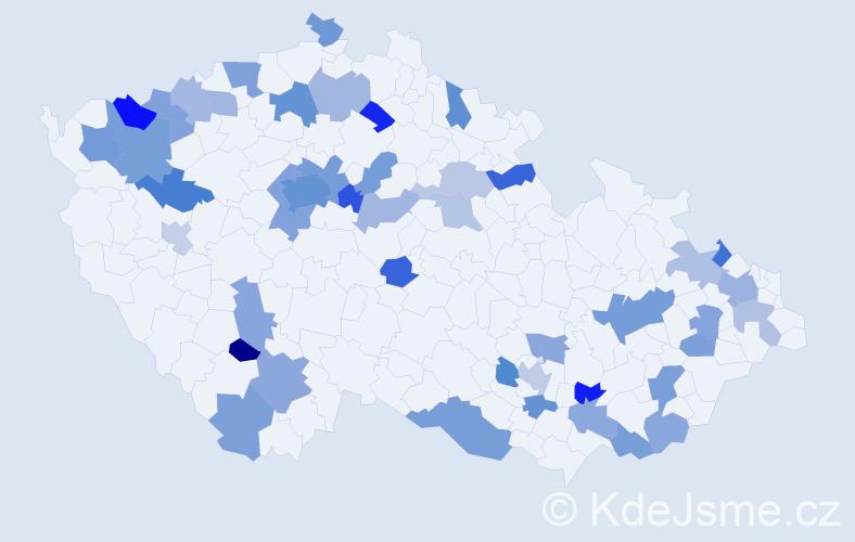 Jméno: 'Lilly', počet výskytů 81 v celé ČR