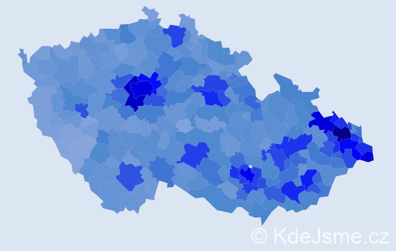 Jméno: 'Adam', počet výskytů 47837 v celé ČR