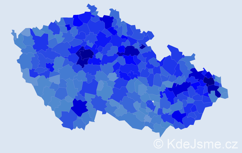 Jméno: 'Adéla', počet výskytů 33597 v celé ČR