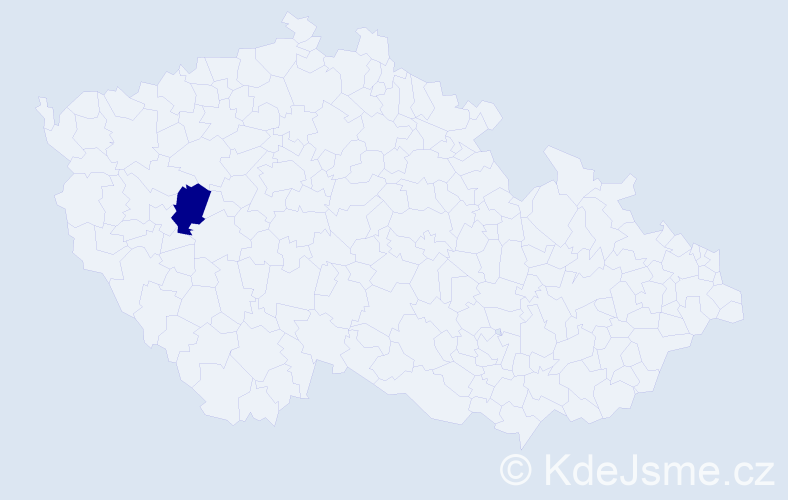 Jméno: 'Šimon Jáchym', počet výskytů 1 v celé ČR