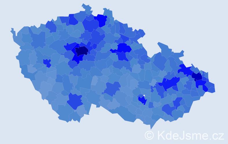 Jméno: 'Jakub', počet výskytů 88257 v celé ČR