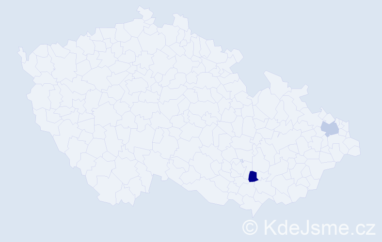 Jméno: 'Petr Jaromír', počet výskytů 2 v celé ČR