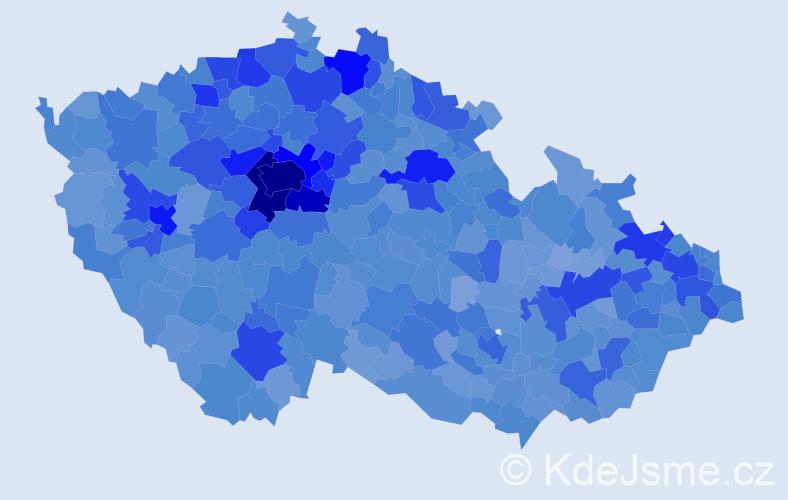 Jméno: 'Karolína', počet výskytů 30703 v celé ČR