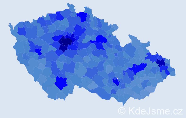 Jméno: 'Lucie', počet výskytů 111155 v celé ČR