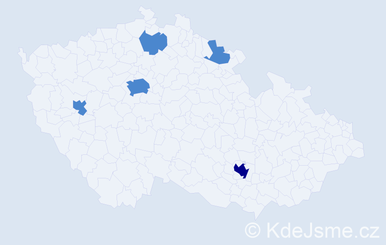 Jméno: 'Honza', počet výskytů 7 v celé ČR