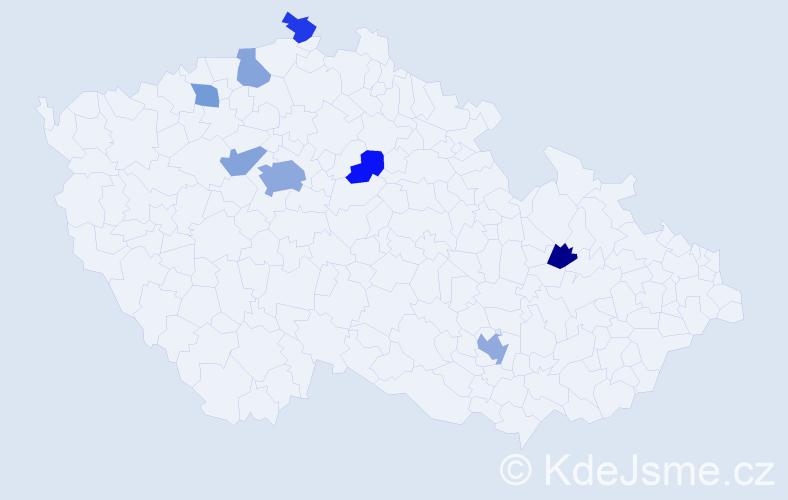 Jméno: 'Quynh Anh', počet výskytů 14 v celé ČR