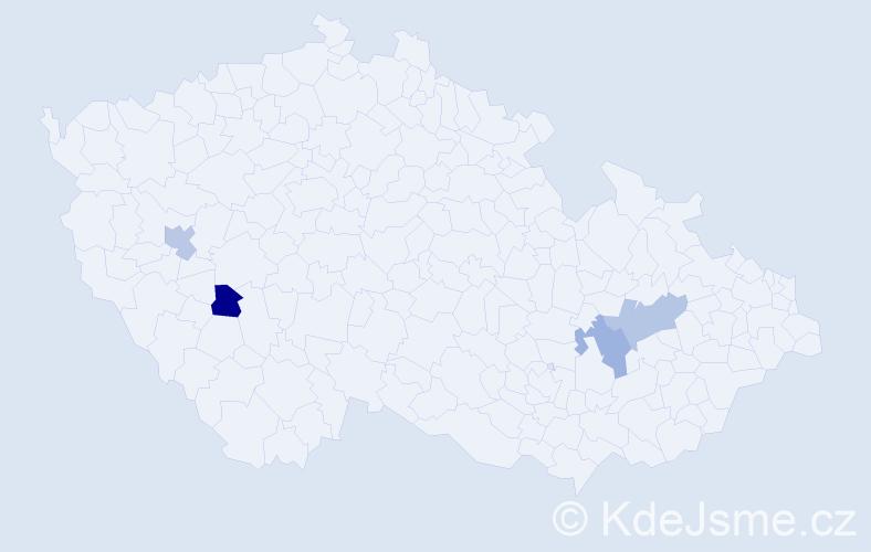 Jméno: 'Šimon Oliver', počet výskytů 4 v celé ČR