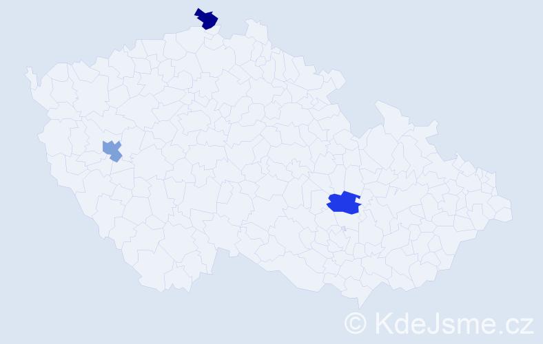 Jméno: 'Viktor Albert', počet výskytů 3 v celé ČR
