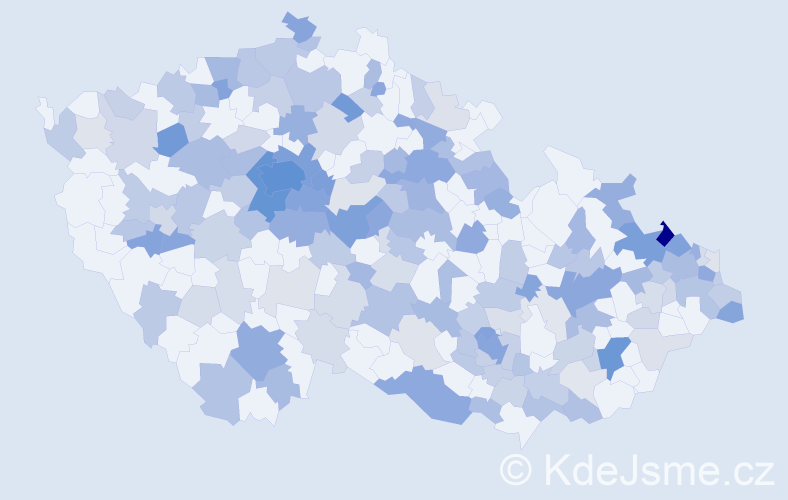 Jméno: 'Maxmilian', počet výskytů 423 v celé ČR