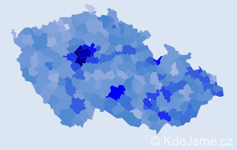 Jméno: 'Šimon', počet výskytů 11597 v celé ČR