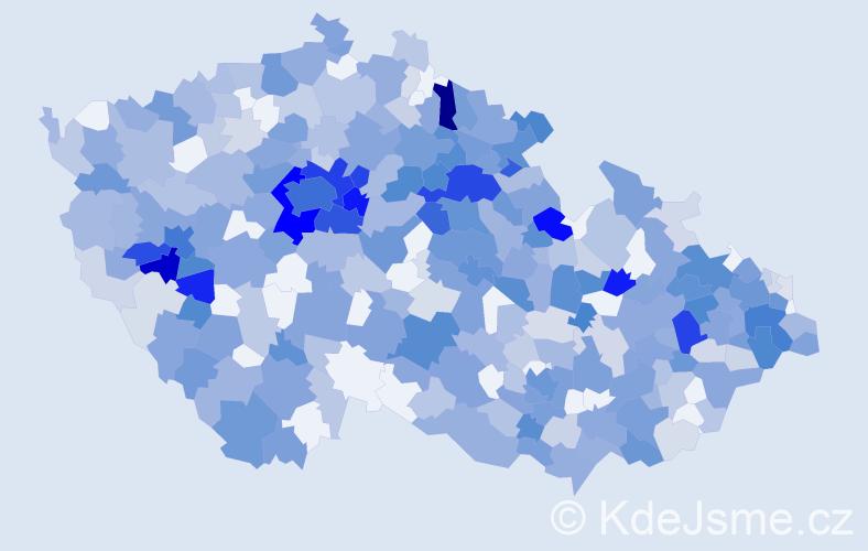 Jméno: 'Evelína', počet výskytů 864 v celé ČR