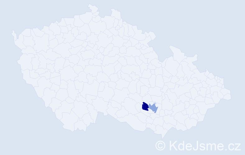 Jméno: 'Garry', počet výskytů 3 v celé ČR