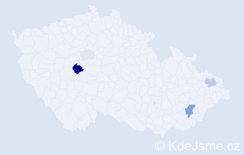 Jméno: 'Lenka Alžběta', počet výskytů 4 v celé ČR