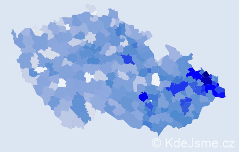 Jméno: 'Elen', počet výskytů 2863 v celé ČR