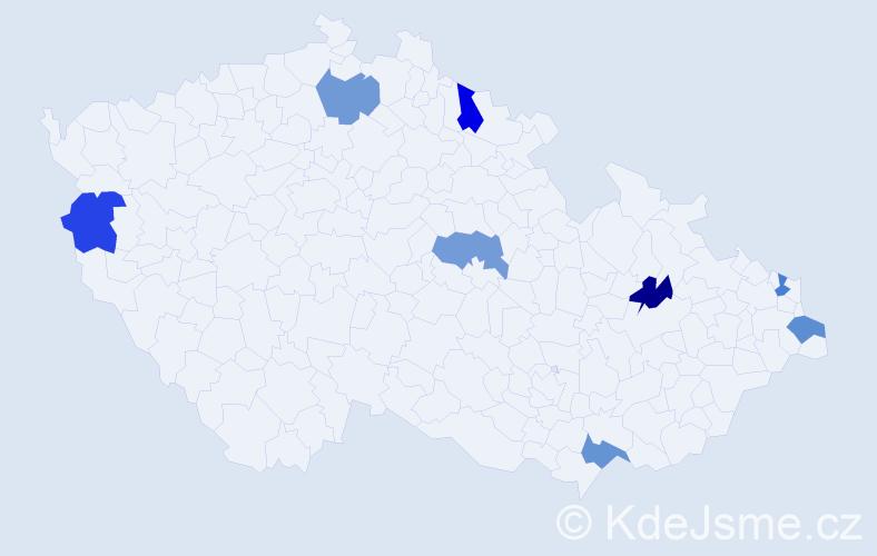Jméno: 'Kasandra', počet výskytů 8 v celé ČR