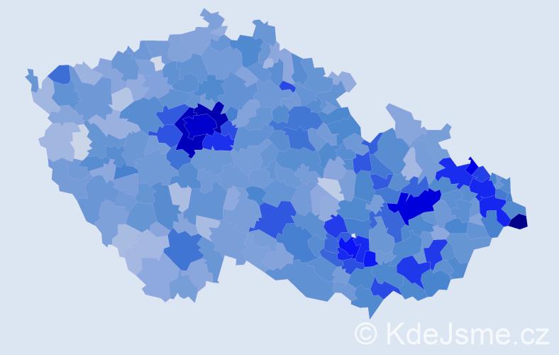 Jméno: 'Tobiáš', počet výskytů 6617 v celé ČR