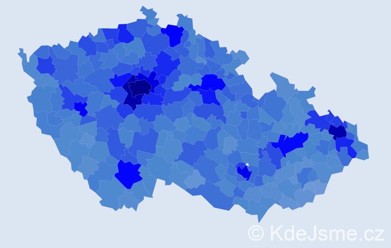Jméno: 'Lucie', počet výskytů 110307 v celé ČR