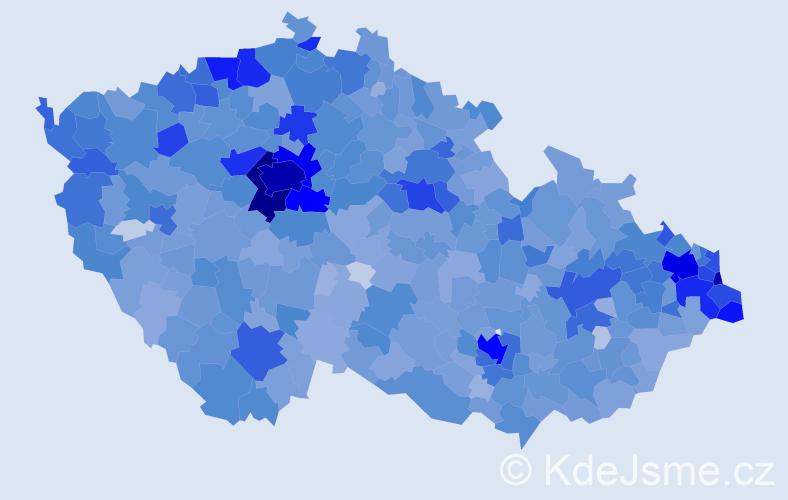 Jméno: 'Laura', počet výskytů 7786 v celé ČR