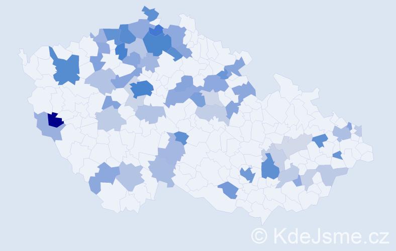 Jméno: 'Vladimir', počet výskytů 150 v celé ČR