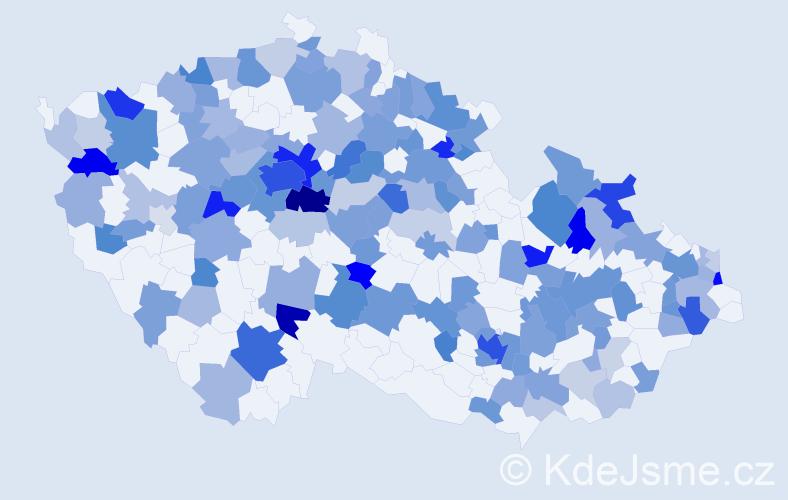 Jméno: 'Amelie', počet výskytů 322 v celé ČR
