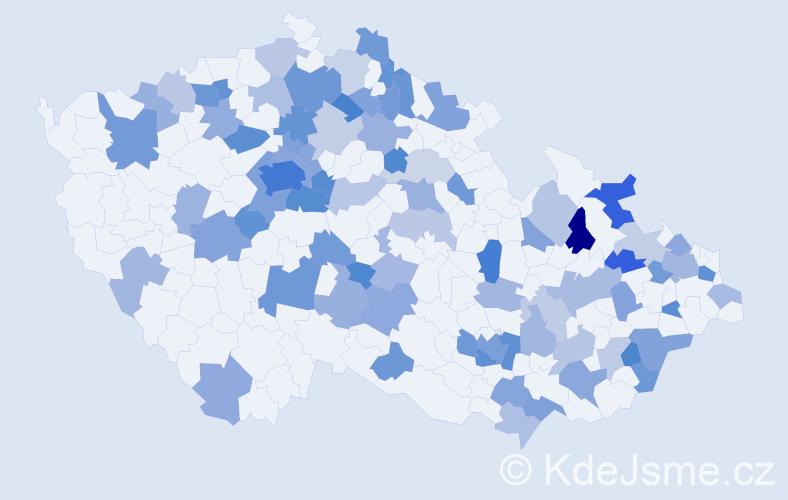 Jméno: 'Theodora', počet výskytů 159 v celé ČR