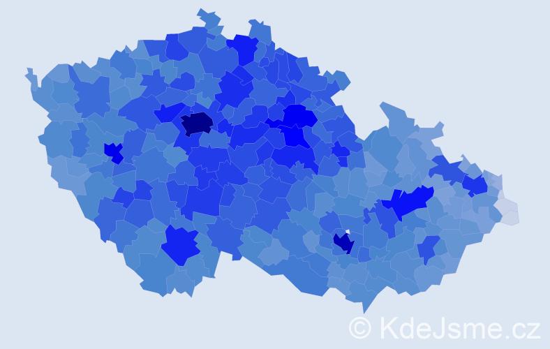 Jméno: 'Hana', počet výskytů 150374 v celé ČR